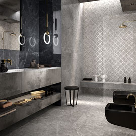 MARCA CORONA_APPARENT REALITY_BAGNO 3D_NEWLUXE_MARMO LUCIDO